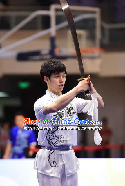 Tai Chi Sword Competition Outfit Taiji Swords Contest Jacket Pants Supplies Custom Kung Fu Costume Martial Arts Clothing for Men Women Kids Boys Girls