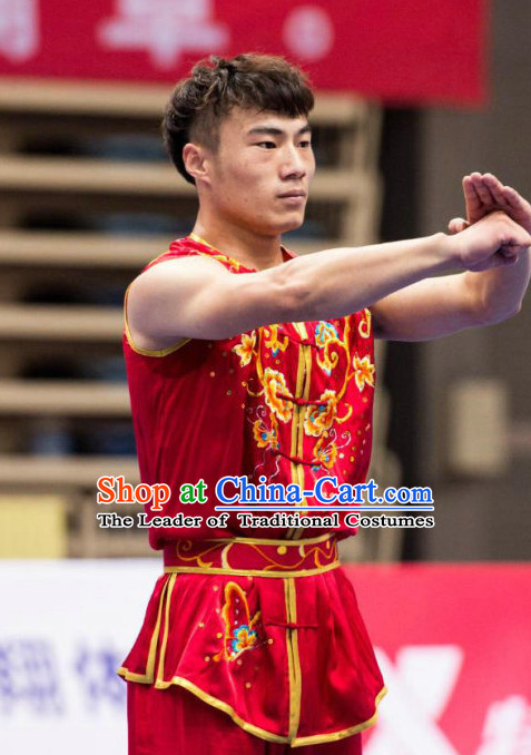 Top Kungfu Master Martial Arts Wushu Uniform Kung Fu Outfit for Men Women Boys Girls Kids