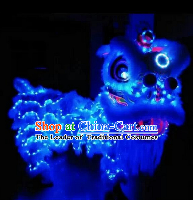 Top LED Lights Lion Dance Costumes Complete Set