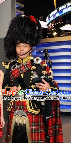 Scoltland Traditional Suits Uniform Dance Costume Traditional Garment Classic Clothing and Hat Complete Set for Men