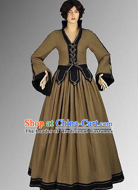 Traditional Medieval Costume Renaissance Costumes Historic Clothing Complete Set for Women