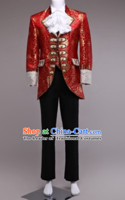 Traditional European Palace Prince Clothing Uniform British National England's Costumes Complete Set for Men