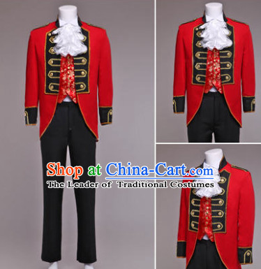 Traditional European English Palace Prince Clothing Uniform British National Costumes Complete Set for Men and Boys
