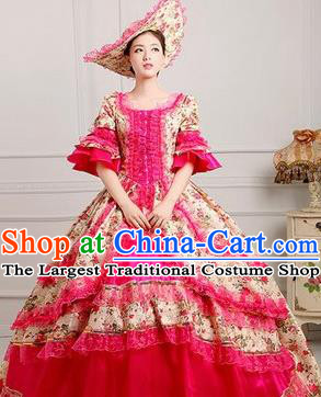 Traditional European English Royal Court Female Clothing British England's National Costumes Complete Set for Women and Girls