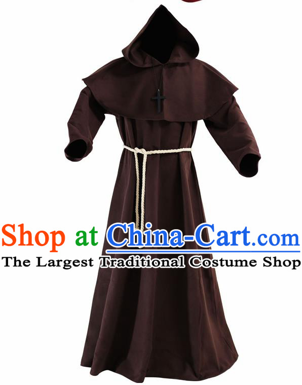 Ancient Father Priest Kids Adults Halloween Costume for Men and Boys