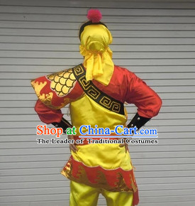 Professional Dragon Dancer Uniform Costumes Dance Costume Outfits and Head Bands Complete Set for Men or Women