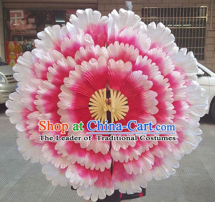 Traditional Large Peony Flower Dance Hands Fan Hand Fan Stage Performance Parade Korean Japanese Chinese Fan