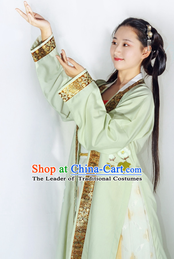 Chinese Classical Song Dynasty Clothing Complete Set for Women