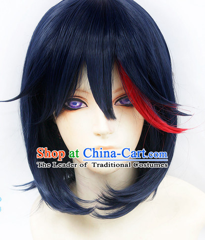Ancient Asian Korean Japanese Chinese Style Swordsman Wigs Toupee Wig  Hair Wig Hair Extensions Sisters Weave Cosplay Wigs Lace for Men