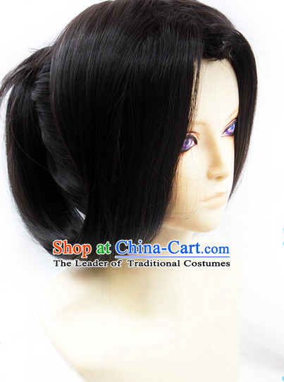 Ancient Asian Korean Japanese Chinese Style Superhero Wigs Toupee Wig  Hair Wig Hair Extensions Sisters Weave Cosplay Wigs Lace for Men
