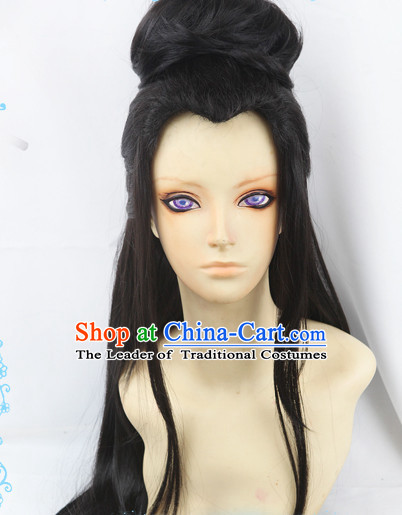 Ancient Asian Korean Japanese Chinese Style Fairy Wigs Toupee Wig  Hair Wig Hair Extensions Sisters Weave Cosplay Wigs Lace for Women