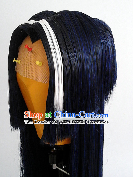 Ancient Asian Korean Japanese Chinese Style Female Wigs Toupee Wig Hair Extensions Sisters Weave Cosplay Wigs Lace