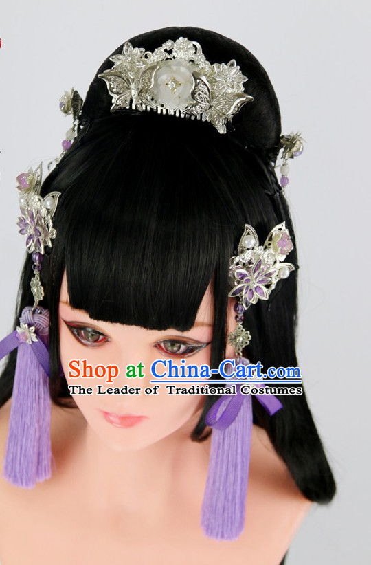 Ancient Chinese Wigs Toupee Wigs Human Hair Wigs Haircuts for Women Hair Extensions Sisters Weave Cosplay Wigs Lace Hair Pieces and Accessories for Women