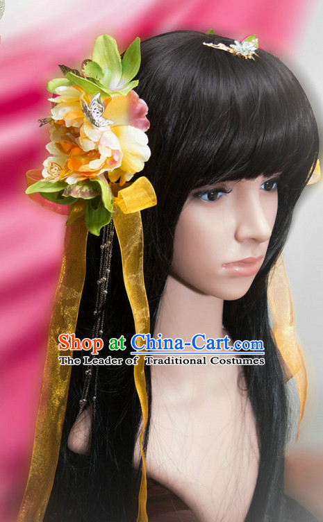 Ancient Chinese Japanese Korean Asian Princess Long Wigs