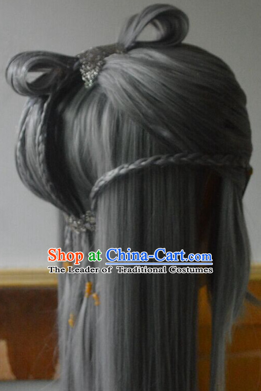 Ancient Chinese Japanese Korean Asian Long Wigs Cosplay Wig
