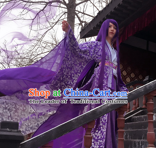 Traditional Chinese Queen Costume and Headwear Complete Set for Women