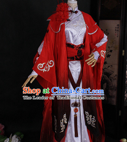 Chinese Classic Red Garment Dress Costumes Japanese Korean Asian King Clothing Costume Dress Adults Cosplay for Women