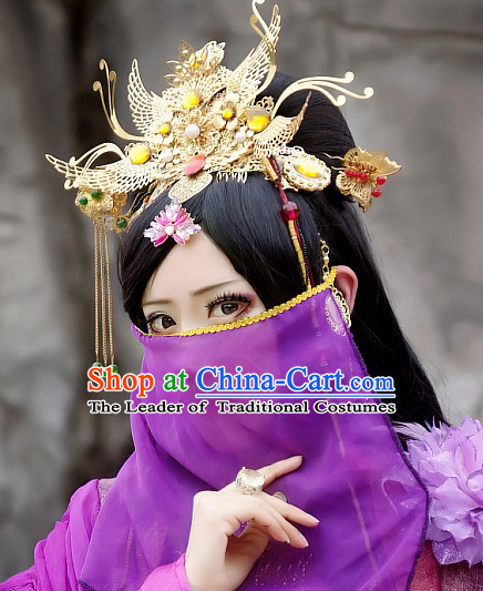 Ancient Chinese Style Princess Long Wigs and Hair Accessories for Women