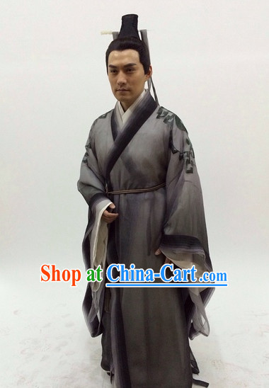Chinese Traditional Swordsman Clothes Complete Set