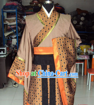 High Shoulder China Ancient Officer Costumes