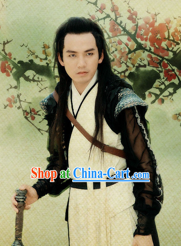 Traditional Chinese Swordman Dresses Complete Set for Men