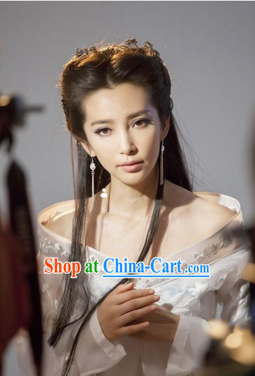 Chinese Classic Long Black Wig