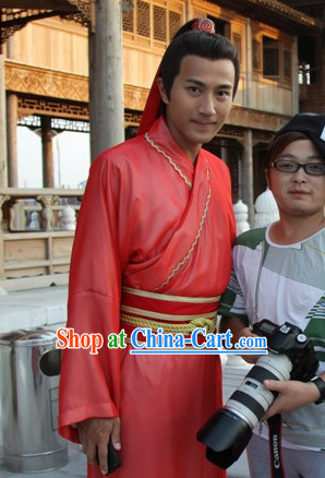Traditional Chinese Red Wedding Clothing for Men