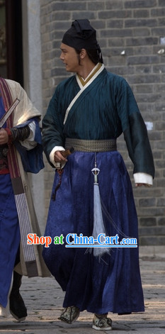 Chinese Knight Outfit and Hat for Boys