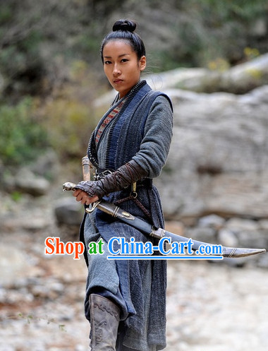 Chinese Classic Swordsman Adult Costumes Complete Set
