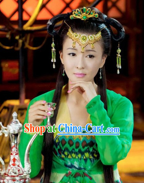 Chinese Classic Geisha Wig and Headwear