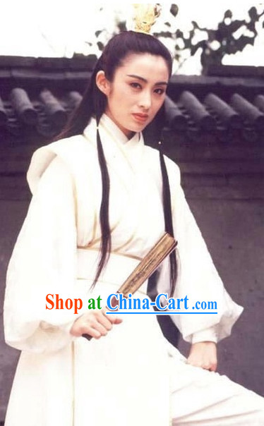 Chinese Classical Superhero Knight Swordswomen Costumes Complete Set