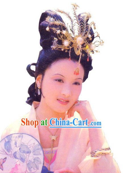 Chinese Classic Wang Xifeng Dream of Red Chamber Phoenix Coronet Film Accessories