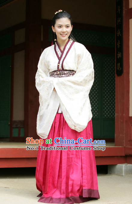 Korean Beauty Ancient Costumes and Hair Accessories for Women