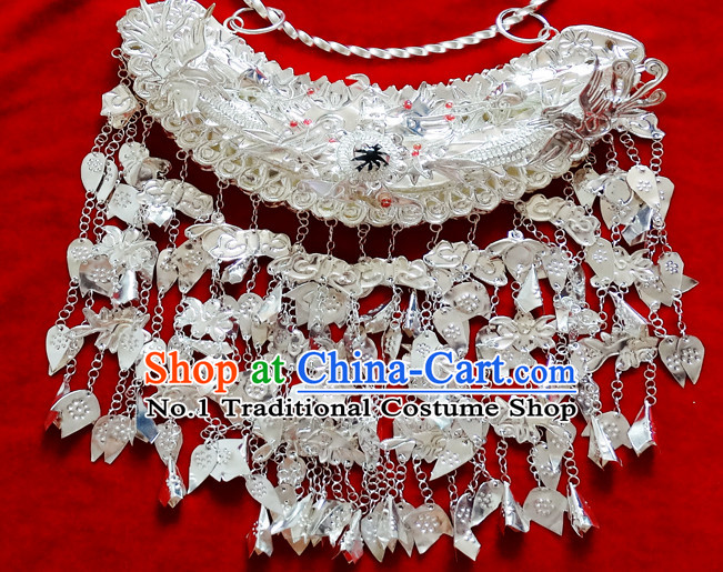 Traditional Silver Miao Tribe Necklace