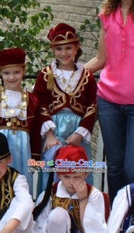 Traditional Greek Costumes Complete Set for Girls