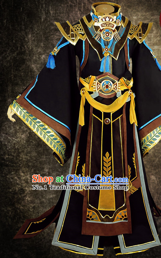 Asian China Emperor Carnival Costumes Full Set for Men