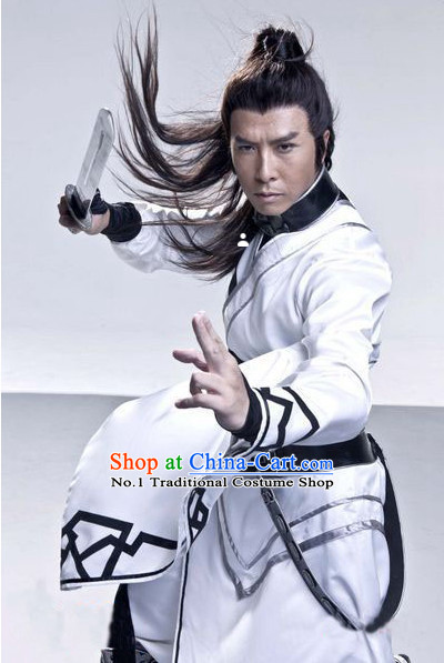 Asian Freedom Fighter White Costumes for Men