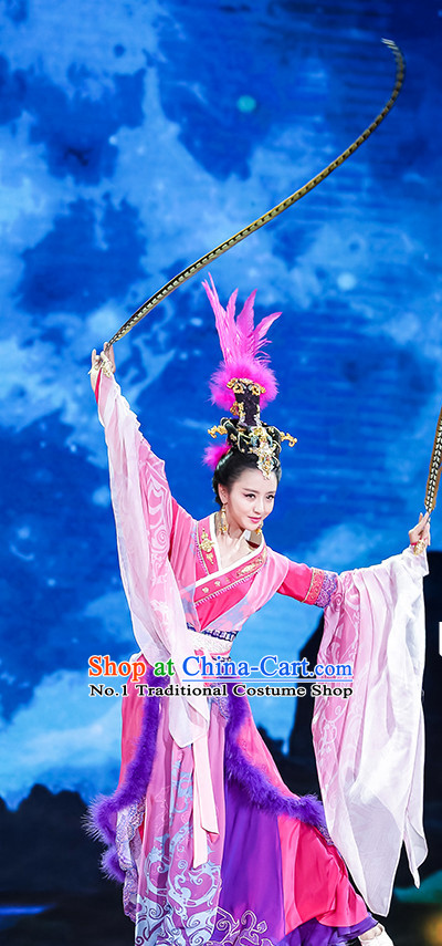 Diao Chan China Beauty Traditional Chinese Costumes and Hair Accessories