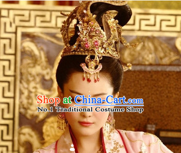 Ancient Chinese Tang Dynasty Empress Hair Wig + Hair .Accessories