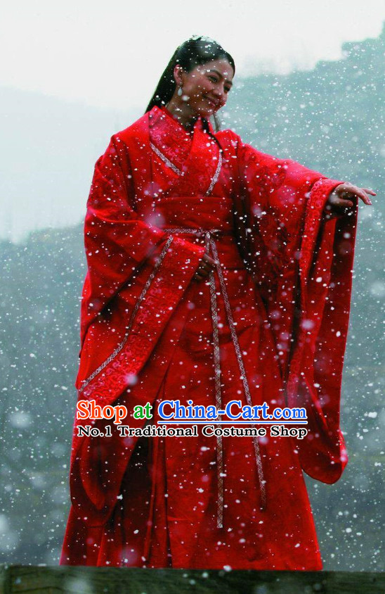 Chinese Red Brides TV Play Costumes