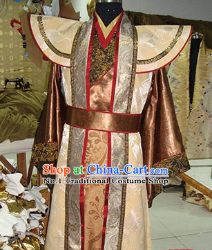 Chinese High Shoulder TV Play Hero Costumes