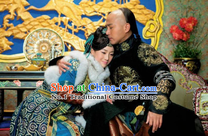 Qing Dynasty Emperor and Empress Clothes Complete Sets
