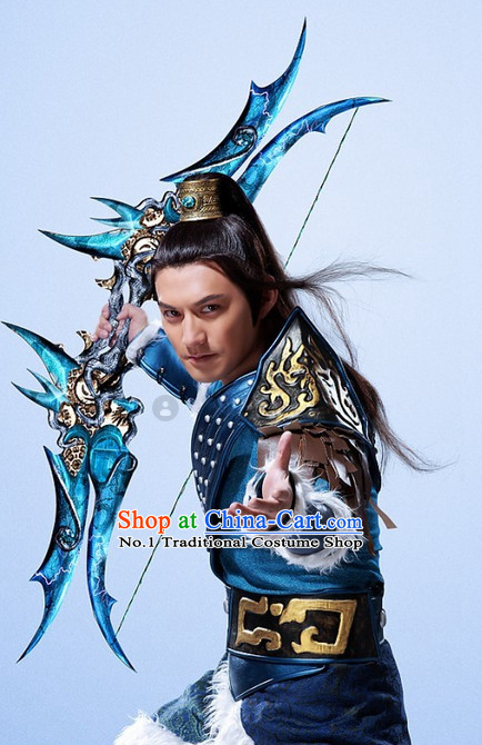 Asian Ancient Archer Cosplay Costumes for Boys and Men