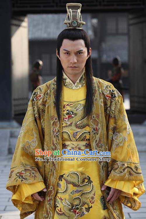 Ancient Traditional Emperor Dragon Long Suit Complete Set for Men