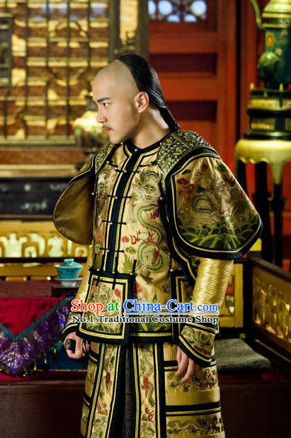 Chinese Traditional Emperor Dragon Costumes for Men