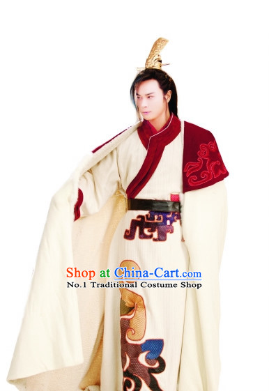Chinese Traditional General Costumes and Coronet for Men