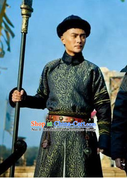 Chinese Traditional Aristocracy Long Robe and Hat for Men