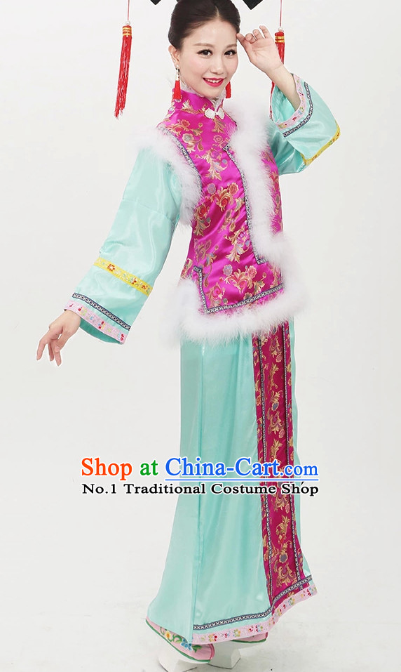 Qing Dynasty Manchu Princess Clothing