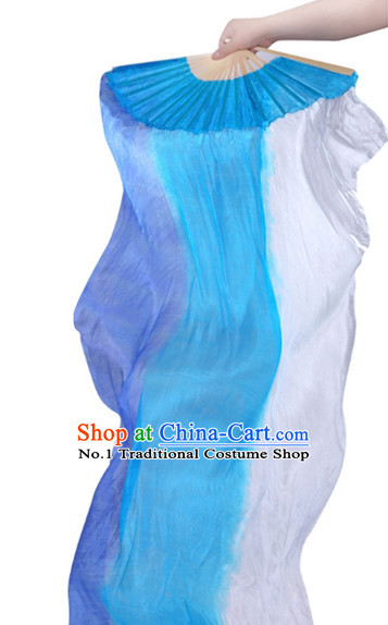 71 Inches Long Pure Silk Fan Veils Dance