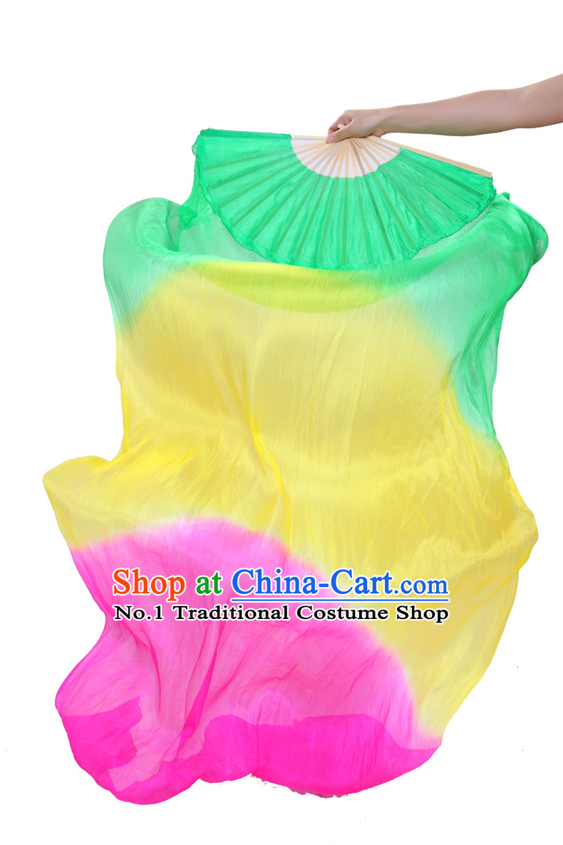 71 Inches Chinese Silk Hands Fan for Sale